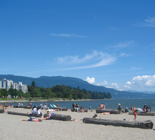 Playa English Bay en Vancouver